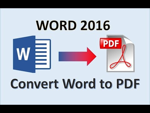 Word 2016 - Convert Word to PDF - How To Create a PDF File From Office - Make Word Into PDF in MS