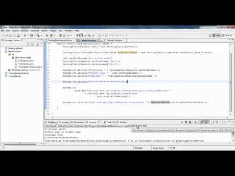 Static Keyword in JAVA - Part 3
