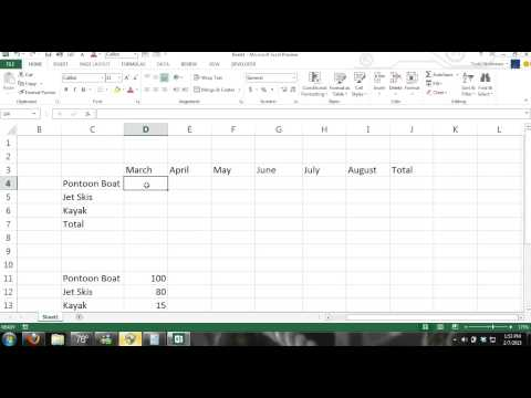 Microsoft Excel 2013 Tutorial For Beginners #2: Crash Course Data Entry, Formulas, Formats, Charts