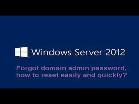 Recover Domain administrator password on server 2012r2 |Reset domain admin password without software