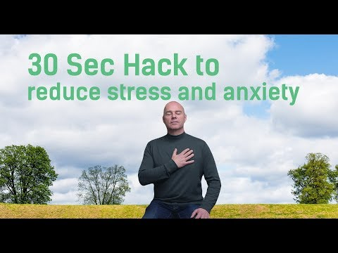 How to Reduce Stress and Anxiety (30 Sec Hack to Calm the Mind) heart rate variability [2018]
