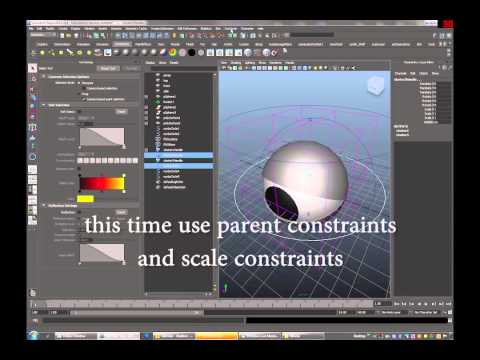Rigging & Building in Autodesk Maya 2013 (a cartoon eye)