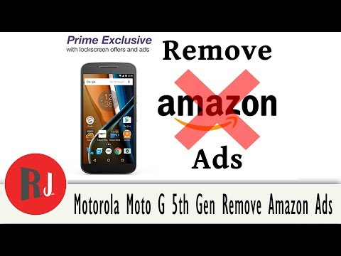 How to Remove Lock Screen ads on the Amazon Moto 4th & Moto 5th Gen
