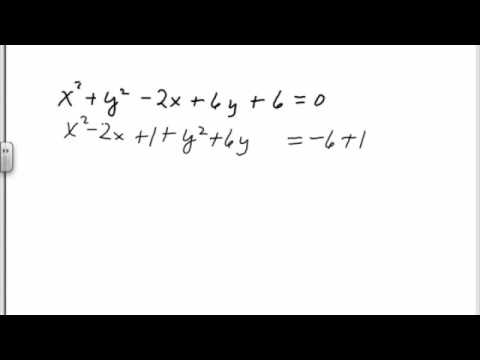 Finding center and radius of a circle