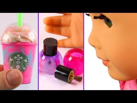 DIY American Girl Doll Stuff: Nail Polish, Unicorn Frappe, etc