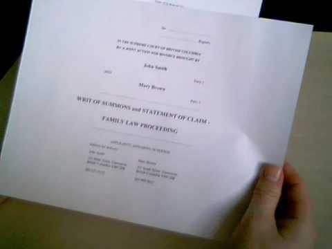 British Columbia, Canada Divorce Forms