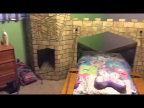Homemade Castle Playhouse with Bed