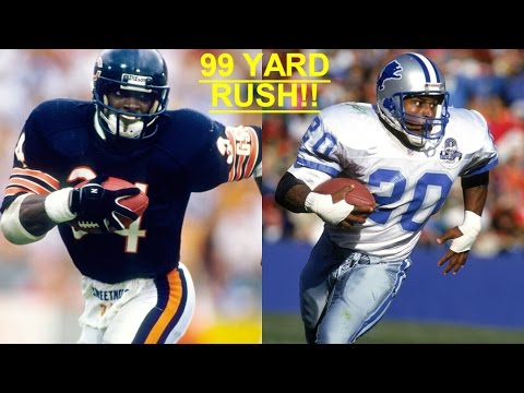 WHO CAN GET A 99 YARD RUN FIRST?!? WALTER PAYTON VS BARRY SANDERS!!