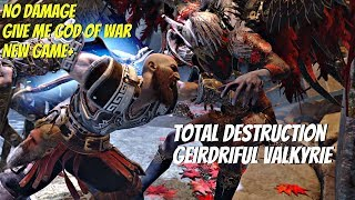 God Of War 4 Ng  Geirdriful Valkyrie In 10 Seconds Gmgow  Difficulty Max Power Kratos