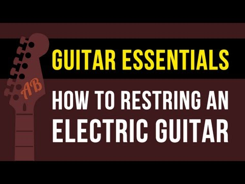 How to Change Electric Guitar Strings | Stratocaster Style Guitar