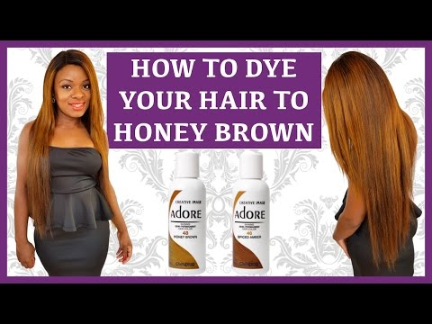 How To Dye your Hair| Wig| Weave| Honey Brown Using Adore  | Ombre Colour