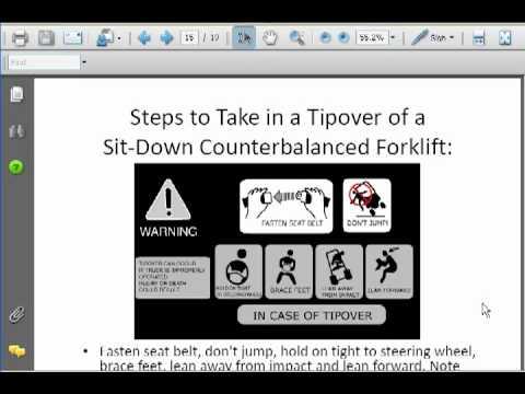 Forklift Certification Course for Forklift Certification