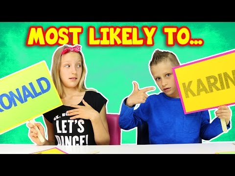 Most Likely to... Sister vs Brother