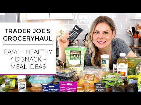Trader Joe's Grocery Haul 2018 | Easy Healthy Kid Snacks + Meal Ideas