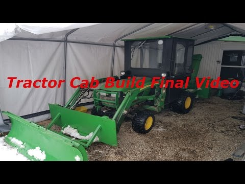 Tractor Cab Build Final Video ...Installing new skid shoes
