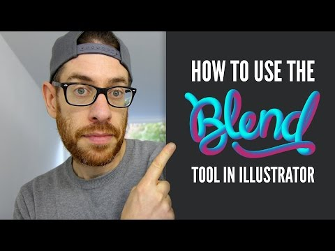 How to use the BLEND TOOL - Adobe Illustrator Tutorial