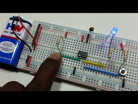 bistable multivibrator using 555 timer in Tamil & English