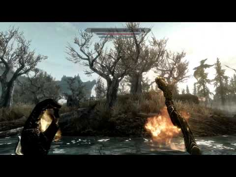 30 Dragons and 50 Trolls in Skyrim via console commands