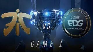 Download FNC vs EDG | Quarterfinal Game 1 | World Championship | Fnatic vs Edward Gaming (2018) Video