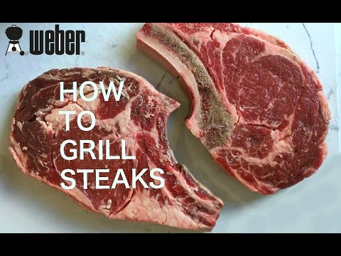 How To Grill Steaks Hot n Fast On The Weber.