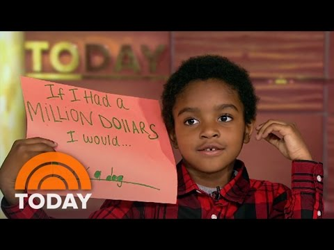 Kidvice: Kids Tell You How To Spend A Million Dollars | TODAY