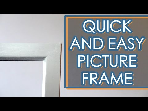 Make A Picture Frame With Limited Tools