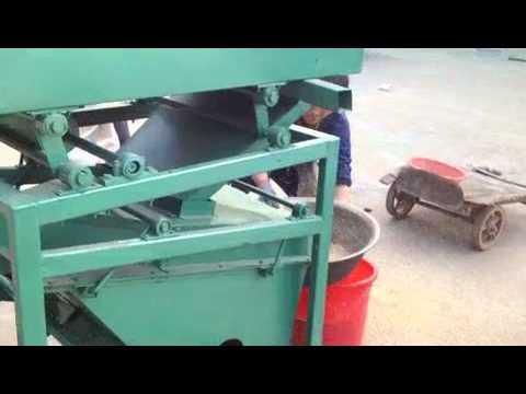 gravity separator machine working video/paddy destoner