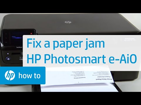 Fixing a Paper Jam - HP Photosmart e-All-in-One Printer (D110a)