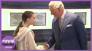Prince Charles Meets Greta Thunberg to Discuss Climate Change in Davos