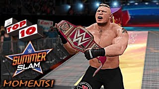 WWE 2K17 - 10 SummerSlam 2017 Moments!