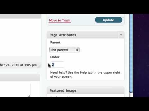 Change your page order and menu order in Wordpress