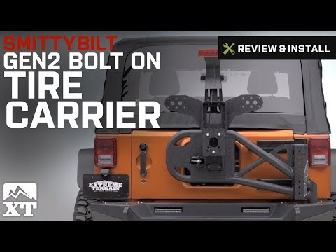 Jeep Wrangler Smittybilt Gen2 Bolt On Tire Carrier (2007-2017 JK) Review & Install