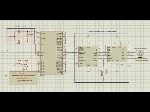 How to interface stepper motor to 8051 using Driver
