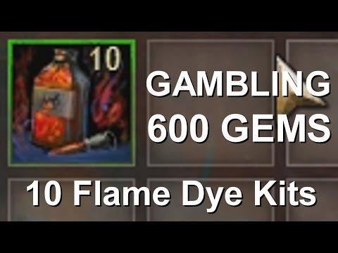 Gambling 10 Flame Dye Kits  |  Guild Wars 2