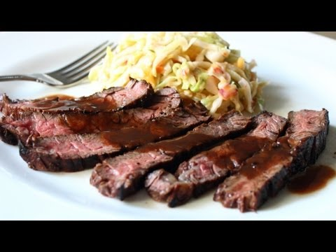 Grilled Coffee & Cola Skirt Steak Recipe - Grilled Beef Marinated in Coffee and Cola