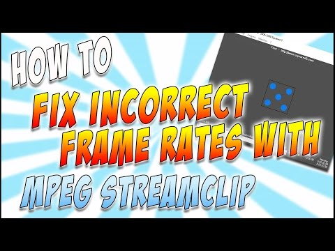 How to change the frame rate of your video clip! - Conforming with MPEG Streamclip tutorial