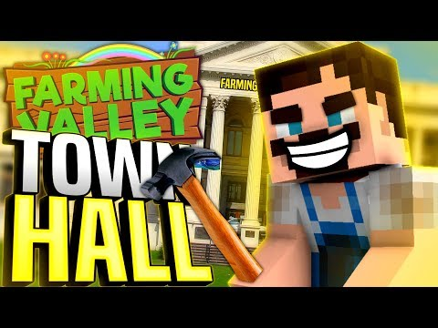Minecraft Farming Valley #41 - We Build A Town Hall