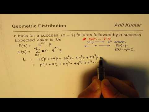 Prove that Expected Value in Geometric Probability Distribution is reciprocal of p