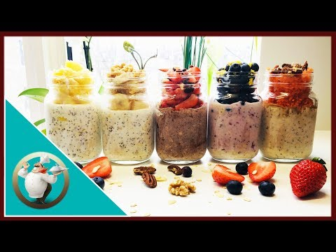 Overnight Oatmeal - 5 Delicious  Ways! | Oatmeal With Fruit For Breakfast