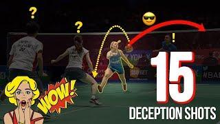 Flabbergastic Badminton Deceptions Shots 2018 | Surprsing Deception Shots | God of Sports