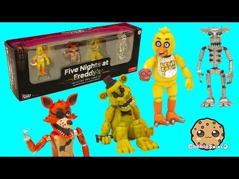Five Nights A Freddy's Set One Funko Vinyl Chica, Cupcake, Foxy, Golden Freddy Game Box Set