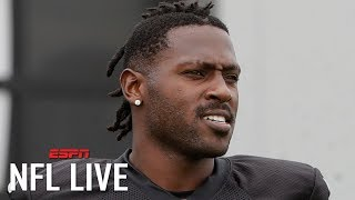 Antonio Brown responds to $54K fines from the Raiders: 'When your own team want to hate' | NFL Live
