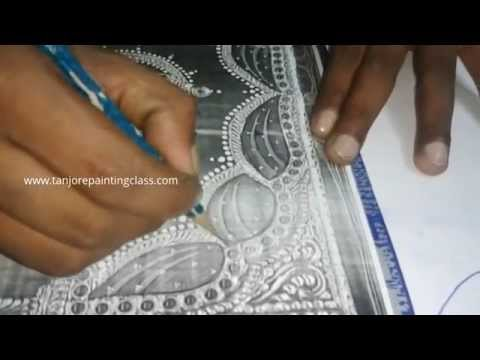 Tanjore paintings | Tutorial | DIY crafts | Procedure | Lesson 1 - Trace the tanjore painting