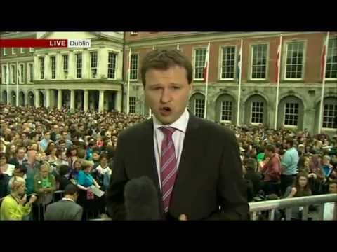 Main early evening news on BBC One - marriage referendum in Ireland