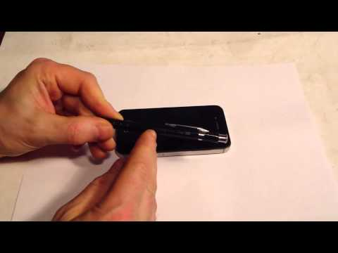 How to change Apple IPhone 4S sim card using pencil tool