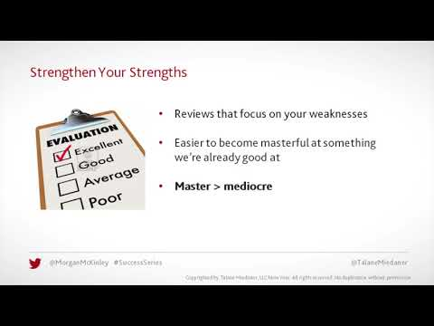 Talane's Top 10 for a Terrific New Year - 6) Strengthen your strengths
