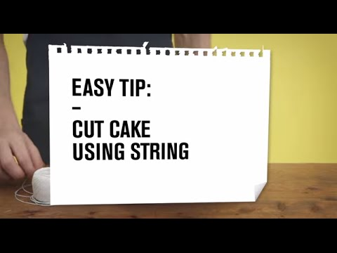 Zanussi Easy Tips: Cut your cake with a string
