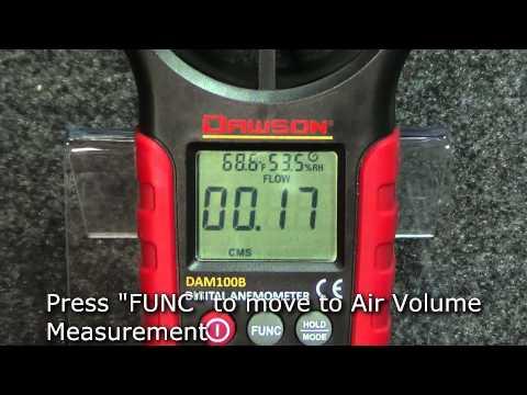 Dawson DAM100B Digital Anemometer/ Wind Meter with Temp & Humidity Measurement