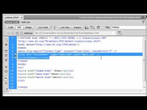 How to make a Navigation Bar HTML