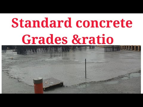 Standard concrete grades &  Ratio